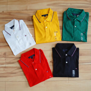 NWT Tommy Hilfiger Men's Short-Sleeve Classic Fit Soft Cotton  Polo Shirt