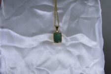 Solid 18K Yellow Gold Natural 4.5ct Certified Emerald Pendant