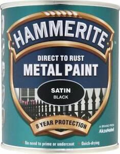 Hammerite Direct to Rust Metal Paint - Satin Finish