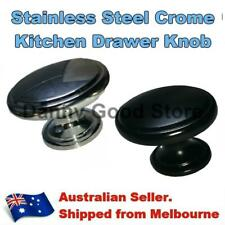 Black Steel Polished Round Chrome Handle Knobs For Kitchen Cabinet Cupboard Door
