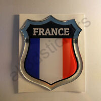 Pegatina Francia 3D Escudo Emblema Vinilo Adhesivo Resina Relieve Coche Moto