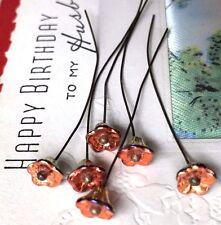 Czech Flower Stems,Vintage Stamens, Glass Flower Stems, Flower Headpins, #1577L