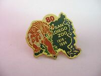 1996 San Diego Zoo 80 Year Anniversary Tiger California Lapel Hat Pin Pinback
