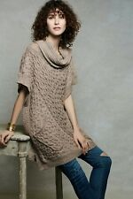 ANTHROPOLOGIE BRYSON COWL PONCHO SWEATER M/L ANGEL OF THE NORTH