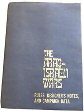 The Arab-Israli Wars Avalon Hill 1977