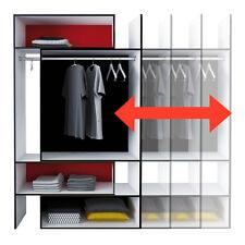 KLEIDERSCHRANK COMBO  variabel 120-180x210x40cm offen BEGEHBAR weiß schwarz rot