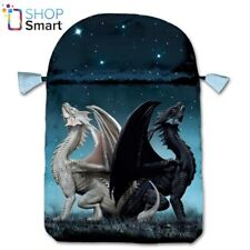 DRACONIS SATIN BAG BLUE PRINTED CARDS LO SCARABEO 160x225 MM NEW