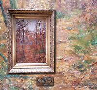 Antiker Französischer Impressionist Malstil Barbizon. Paysage intime, signiert
