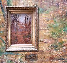 Antico Francese Impressionista Stile Barbizon. Paysage intimo, autografato
