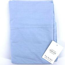 Restoration Hardware Garment Dyed Percale Sky Blue King Bed Skirt Bedskirt