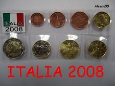 SERIETTA ITALIA 2008 DA 1 CENT. A 2 EURO DANTE - FDC DA ROTOLINI ZECCA