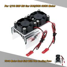 7019 Motor Heat Sink With 2 Cooling Fans for 1/10 HSP RC Car 540 Motor X7C8