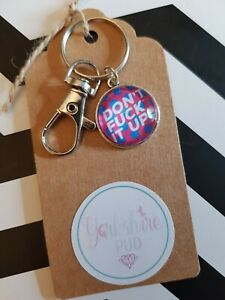 Dont F*ck it Up Quote  DFIU Ru Paul Drag Race Queen Keyring Bag Charm Gift Tag