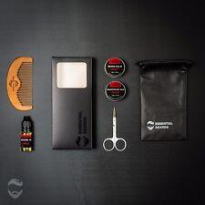 Essential Beards Grooming Kit - STRAWBERRY 6pc set Beard Balm, Oil, Etc, [1U]