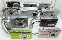 Lot of 10 Mixed Digital Cameras Untested As Is For Parts / Repair