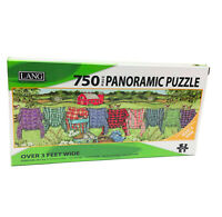 NWT Lang Panoramic Favorite Flannel 750 Piece Puzzle 19x5.63 inches