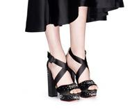 $935 size 40 US 9 Charlotte Olympia Edna  Black Open Toe Platform Dress Sandals