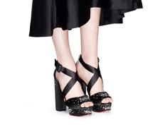 944d895ec729  935 size 40 US 10 Charlotte Olympia Edna Black Open Toe Platform Dress  Sandals