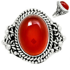 Carnelian 925 Silver Ring Jewelry s.8 SSS CRNR787