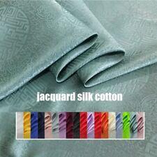 1yard*114cm Chinese silk fabric jacquard silk cotton charmeuse crepe tissu