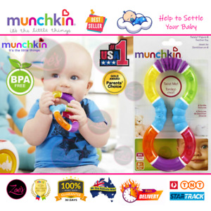 MUNCHKIN Twisty Baby Teether Pacifier Dummy 4 Texture Silicone Teething Toy