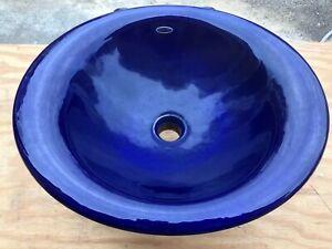 Kohler K-2804-P5 Iron Bell Vessel Sink Cobalt Blue +9655-P5 bracket!