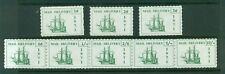 Cinderella - 1971 British Strike Mail MNH set of 8 including strip, tall ships
