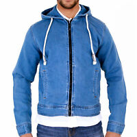 Mens Hoody Sweatshirt Hooded Top Blue Jersey Jacket by AD S M L XL 2XL 3XL 4XL