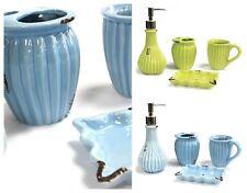4pc Vintage Ceramic Bathroom Accessories Set Soap Dish Dispenser Beaker Tumbler