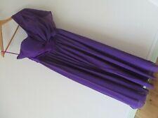 BNWT GRACE KARIN One Shoulder Purple Chiffon Long Evening Dress 14 UK 40 EU