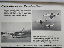 2/1970 PUB RINALDO PIAGGIO P.166 B/C PORTOFINO PD-808 AIRCRAFT ORIGINAL AD