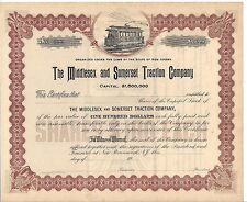 THE MIDDLESEX AND SOMERSET TRACTION COMPANY ( NEW JERSEY).....UNISSUED STOCK CER