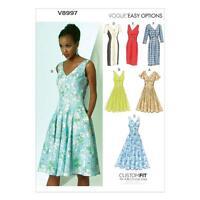 VOGUE SEWING PATTERN MISSES' COCKTAIL HOUR DRESS SIZE 6 - 22 V8997