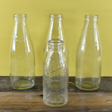 More details for a collection of 4 vintage kitsch 1980's glass milk bottles - co op