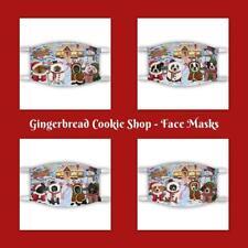 Gingerbread Cookie Shop Dog Cat Pet Photo Face Masks, Personalized custom Masks