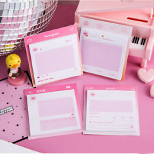 Office Pink Romantik Memo Pad Stationary Scrapbooking Decorative Stickers