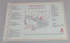 Shell Schmierplan für Lloyd LP 400 S / LS 400 S / LT 500