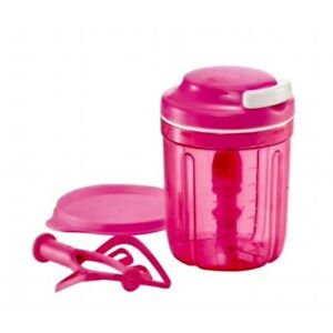 Tupperware Pink Smooth Chopper Turbo Chopper Chef Blades Whisker Free Postage