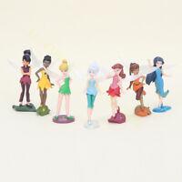 7 Pcs Disney Tinker Bell Fairies Princess Figure Doll Play Cake Topper Loose New