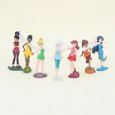 7 Pcs Disney Tinker Bell Fairies Princess Figure Doll Play Cake Topper Loose