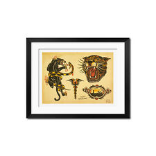 Sailor Jerry Vintage Tattoo Flash Poster Print 0790