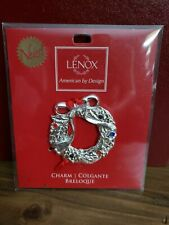 LENOX Silver Jeweled Wreath Ornament for Christmas, Nrand New in package