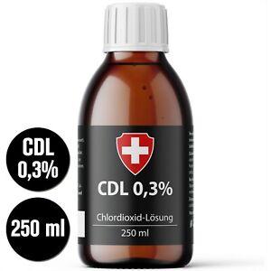 CDL (CDS) Lösung 0,3%, 250ml Glasflasche. +Apothekenqualität+ Sicherheitsdeckel!