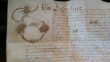 1687 KING JAMES II ANTIQUE VELLUM MANUSCRIPT INDENTURE WINCHESTER SOUTHAMPTON