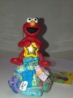 Christmas Ornament Elmo w/ Gifts Sesame Street Kurt Adler NEW Resin Holiday Tree