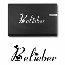 BELIEBER JUSTIN BIEBER LAPTOP IPAD STICKER DECAL MANY COLOURS VINYL