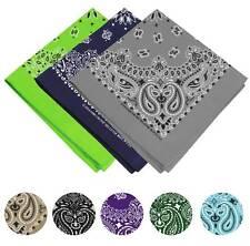 "3 Pack USA Made Premium Cotton Head Wrap Scarf Bandana Multiple Colors 21"" X 21"""