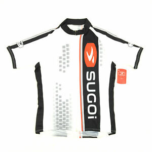Sugoi Bike Cycling Womens Evolution Jersey Small White/Black/Red