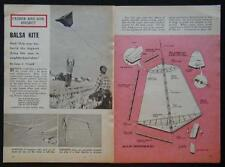 Kite HowTo PLANS 1961 Contest Winner High Flyer in light wind