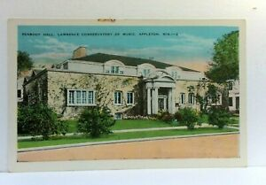 Appleton Wisconsin Peabody Hall Lawrence Conservatory Of Music Vintage Postcard
